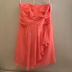 NWT Coral sweetheart David's Bridal dress